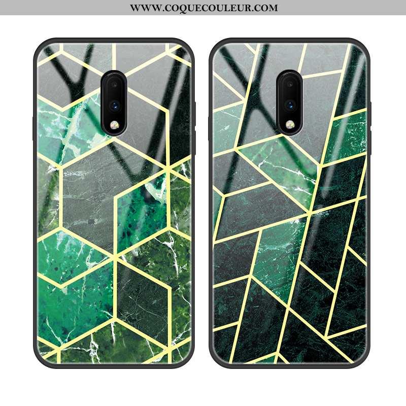 Housse Oneplus 7 Tendance Incassable Protection, Étui Oneplus 7 Légère Mode Verte
