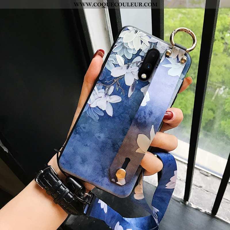 Étui Oneplus 7 Créatif Téléphone Portable Net Rouge, Coque Oneplus 7 Silicone Bleu
