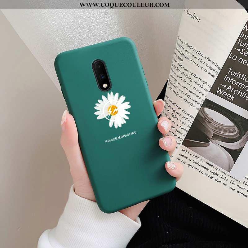 Étui Oneplus 7 Délavé En Daim Créatif Téléphone Portable, Coque Oneplus 7 Personnalité Petite Margue
