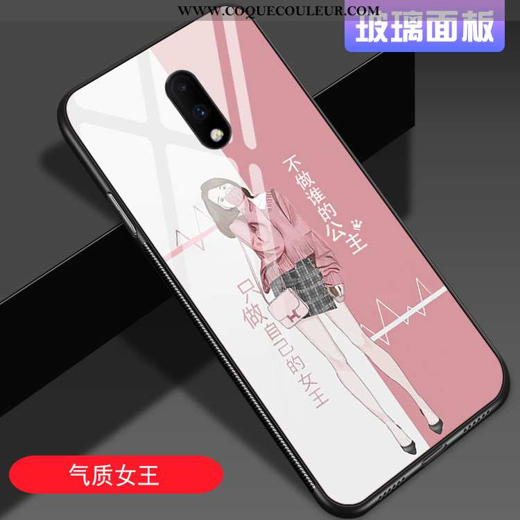 Coque Oneplus 7 Personnalité Net Rouge Mode, Housse Oneplus 7 Tendance Amoureux Rose