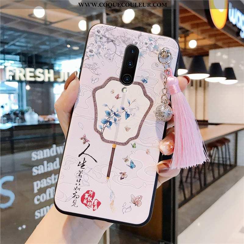 Étui Oneplus 7 Pro Vintage Rose Téléphone Portable, Coque Oneplus 7 Pro Silicone