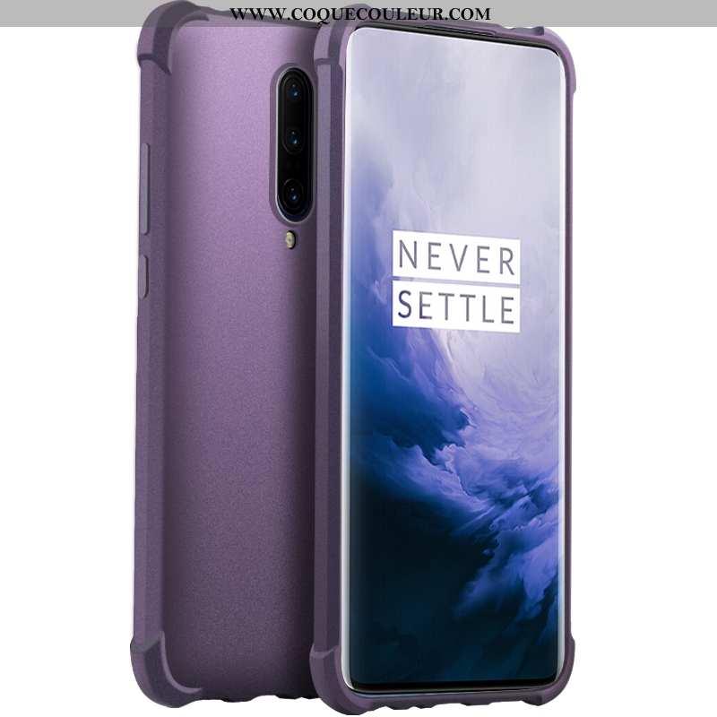 Coque Oneplus 7 Pro Transparent Violet Incassable, Housse Oneplus 7 Pro Silicone Tout Compris