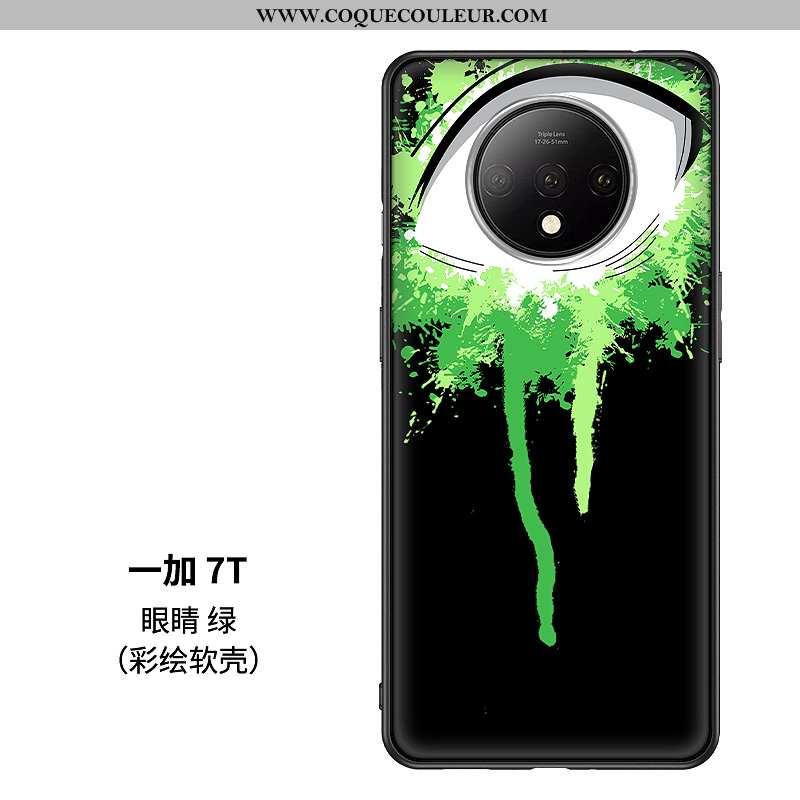 Étui Oneplus 7t Protection Coque Téléphone Portable, Oneplus 7t Verre Verte