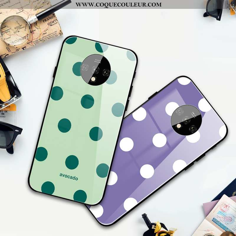 Coque Oneplus 7t Silicone Point D'onde Coque, Housse Oneplus 7t Mode Simple Violet