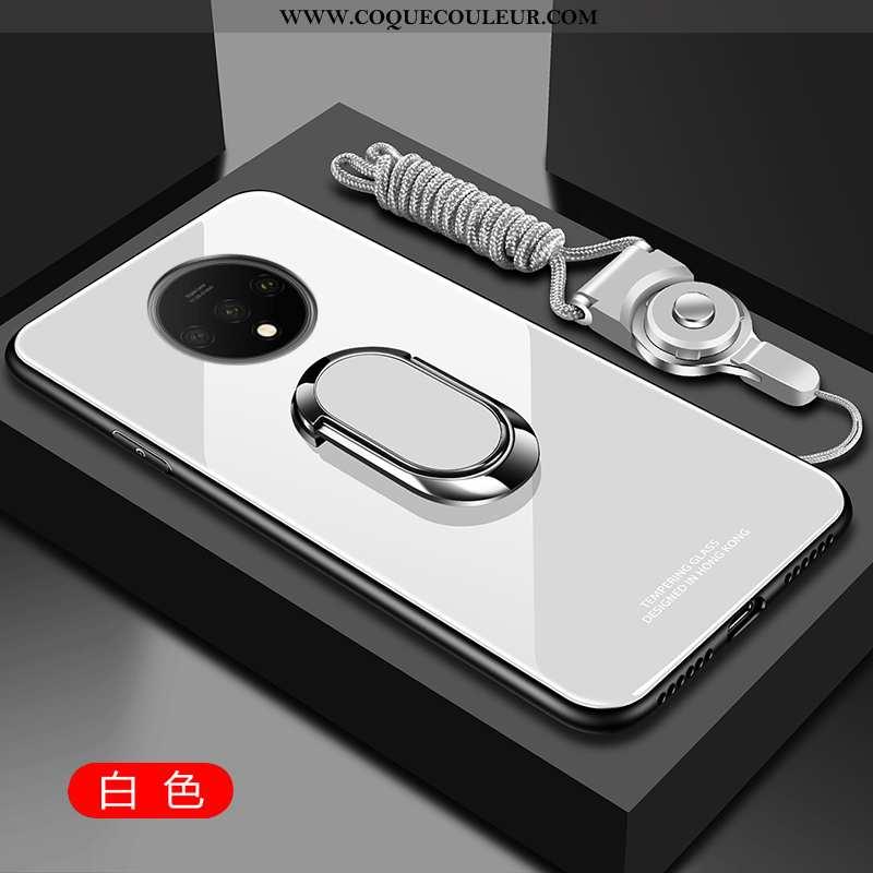 Housse Oneplus 7t Fluide Doux Tempérer Téléphone Portable, Étui Oneplus 7t Silicone Blanche