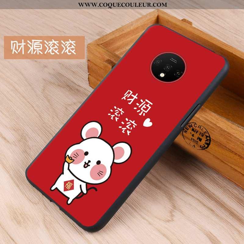 Housse Oneplus 7t Protection Téléphone Portable Incassable, Étui Oneplus 7t Délavé En Daim Coque Rou