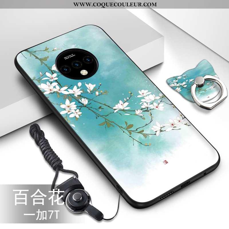 Coque Oneplus 7t Ultra Silicone Téléphone Portable, Housse Oneplus 7t Légère Fluide Doux Bleu