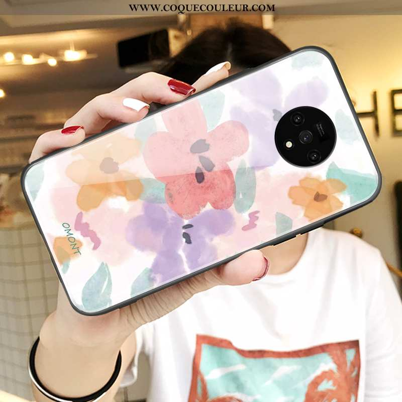 Coque Oneplus 7t Fluide Doux Tendance Protection, Housse Oneplus 7t Silicone Rose