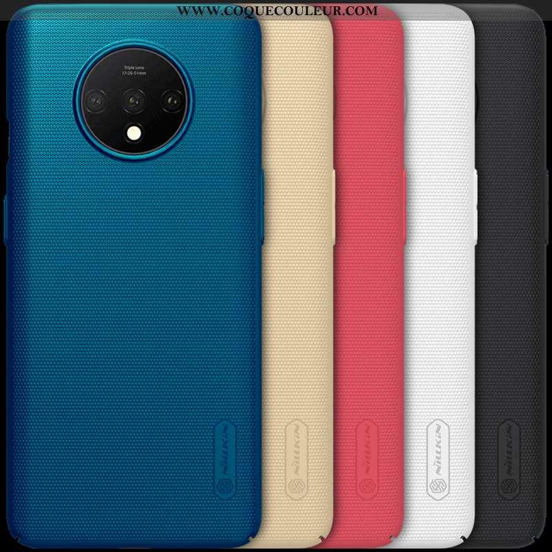 Coque Oneplus 7t Protection Téléphone Portable Antidérapant, Housse Oneplus 7t Difficile Or Bleu
