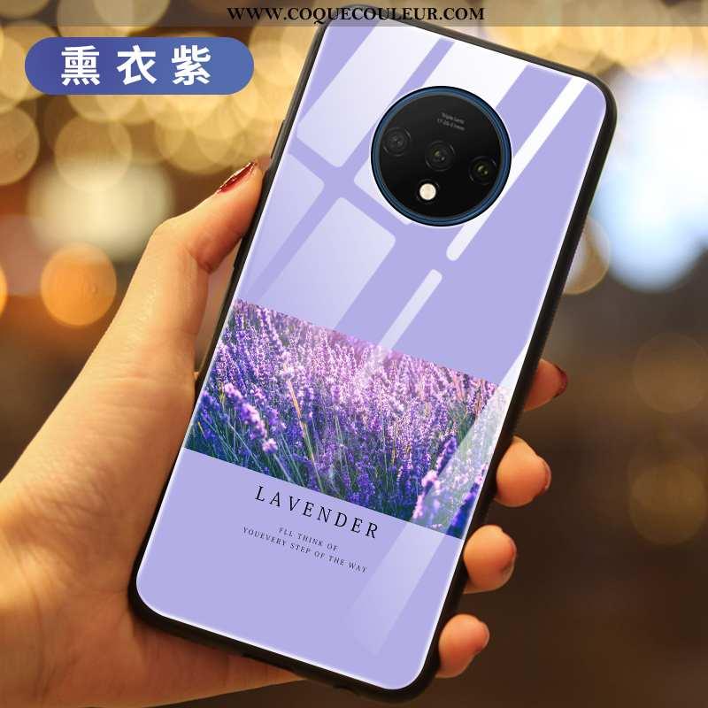 Housse Oneplus 7t Légère Incassable Ultra, Étui Oneplus 7t Silicone Luxe Violet