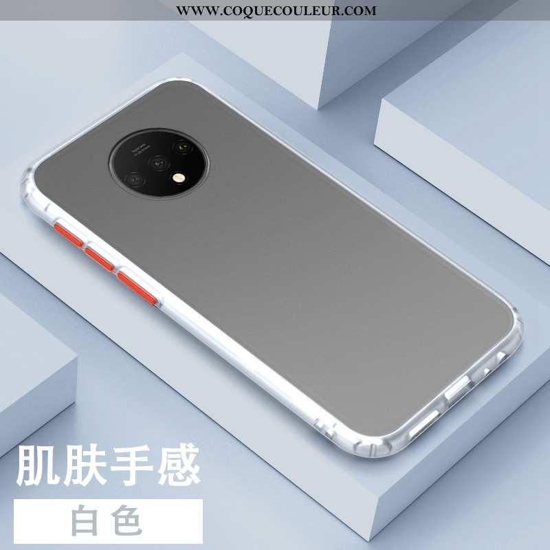 Étui Oneplus 7t Silicone Incassable Tendance, Coque Oneplus 7t Personnalité Téléphone Portable Blanc