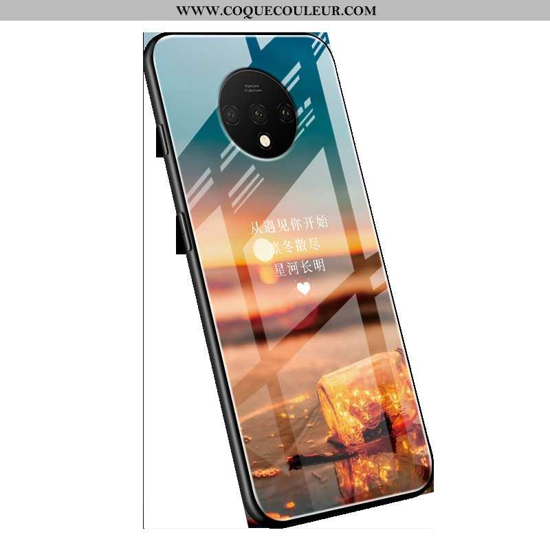 Étui Oneplus 7t Tendance Téléphone Portable Étui, Coque Oneplus 7t Légère Tempérer Bleu