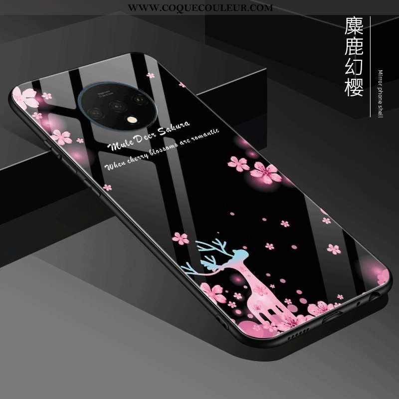 Étui Oneplus 7t Tendance Téléphone Portable Noir, Coque Oneplus 7t Fluide Doux Nouveau Noir