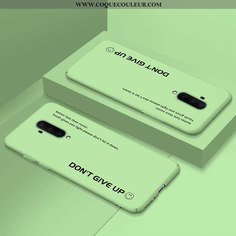 Housse Oneplus 7t Pro Délavé En Daim Nouveau Vert, Étui Oneplus 7t Pro Ultra Protection Verte