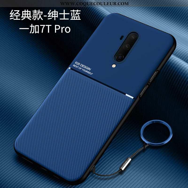 Coque Oneplus 7t Pro Protection Incassable Net Rouge, Housse Oneplus 7t Pro Délavé En Daim Personnal
