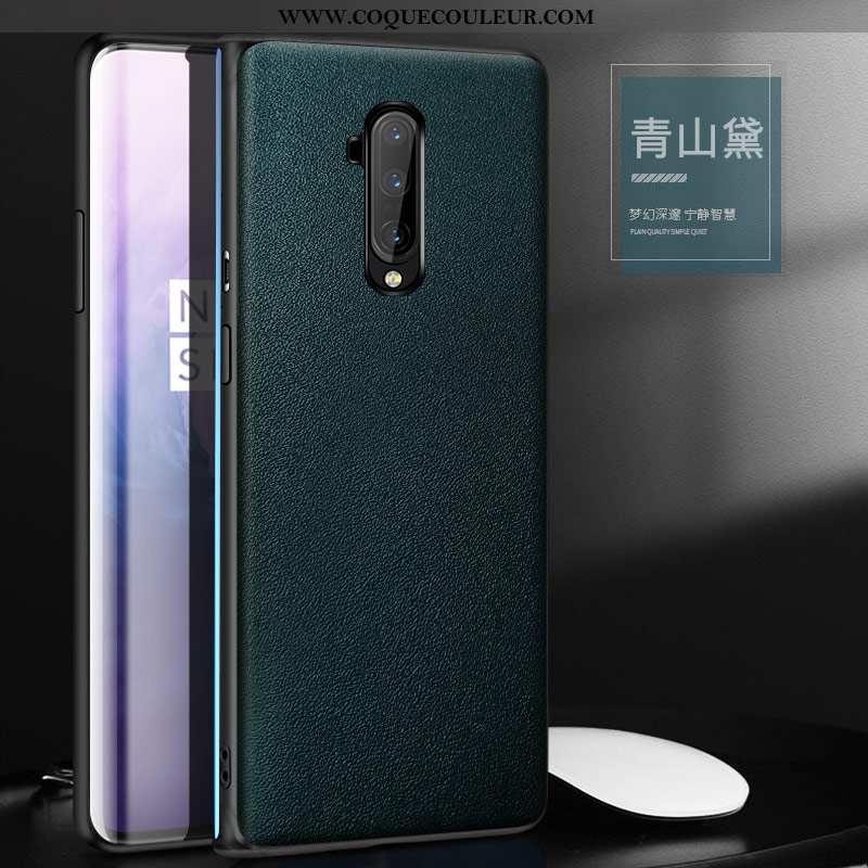 Étui Oneplus 7t Pro Cuir Net Rouge Incassable, Coque Oneplus 7t Pro Protection Téléphone Portable Ve