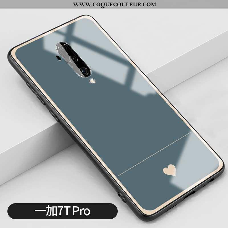 Housse Oneplus 7t Pro Verre Net Rouge Vent, Étui Oneplus 7t Pro Silicone Bleu