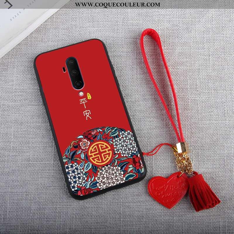 Housse Oneplus 7t Pro Tendance Téléphone Portable Créatif, Étui Oneplus 7t Pro Protection Coque Roug