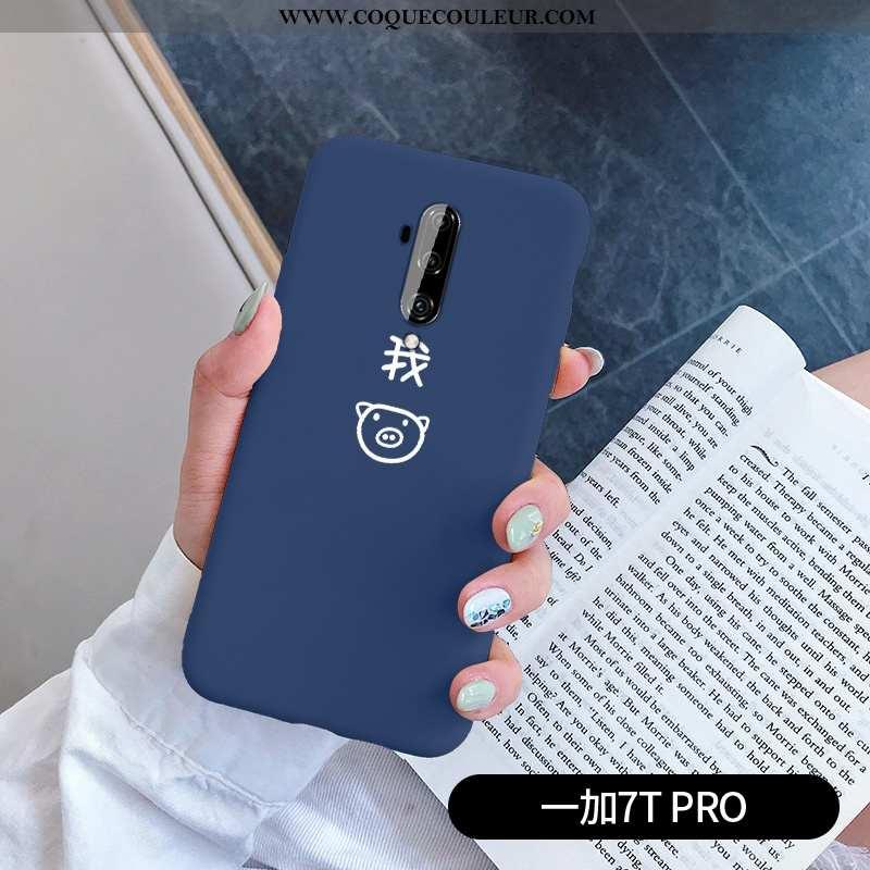Housse Oneplus 7t Pro Créatif Tout Compris Téléphone Portable, Étui Oneplus 7t Pro Charmant Bleu