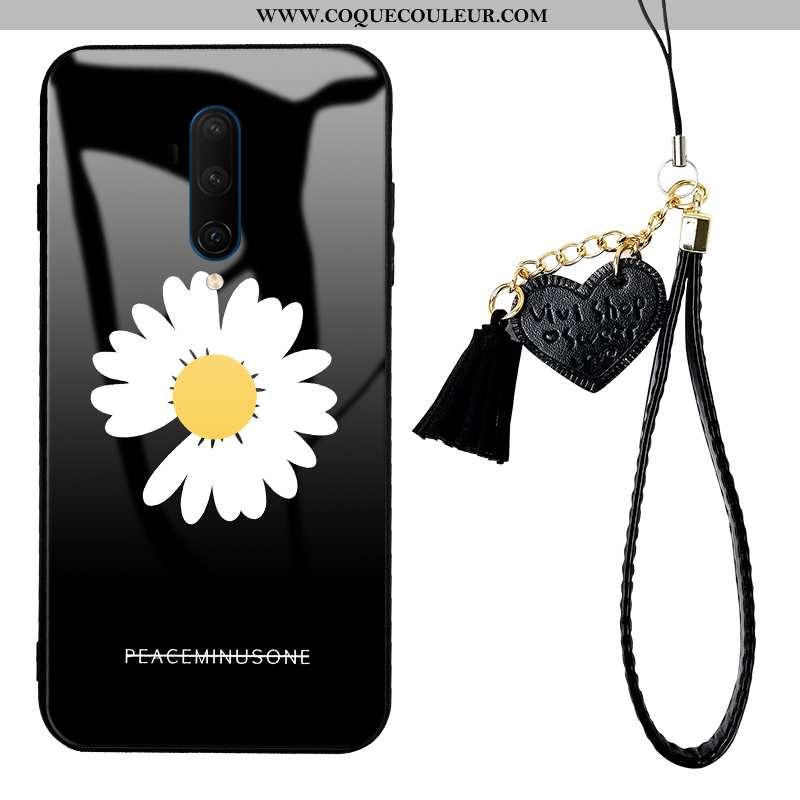 Étui Oneplus 7t Pro Créatif Verre Téléphone Portable, Coque Oneplus 7t Pro Tendance Noir