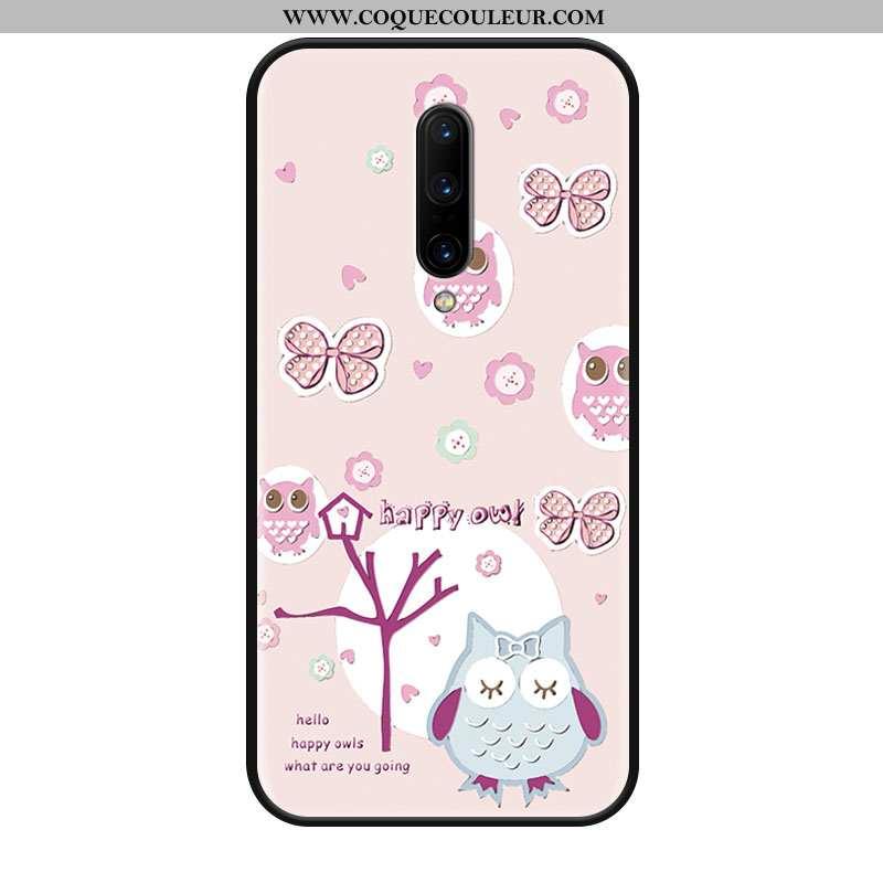 Housse Oneplus 8 Délavé En Daim Grand Charmant, Étui Oneplus 8 Dessin Animé Téléphone Portable Rose