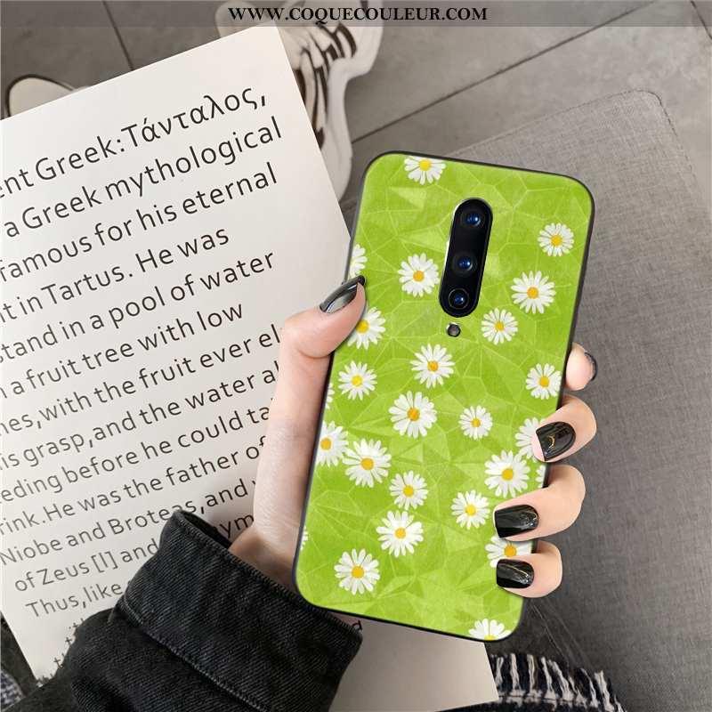 Housse Oneplus 8 Téléphone Portable Losange Coque, Étui Oneplus 8 Vert Verte