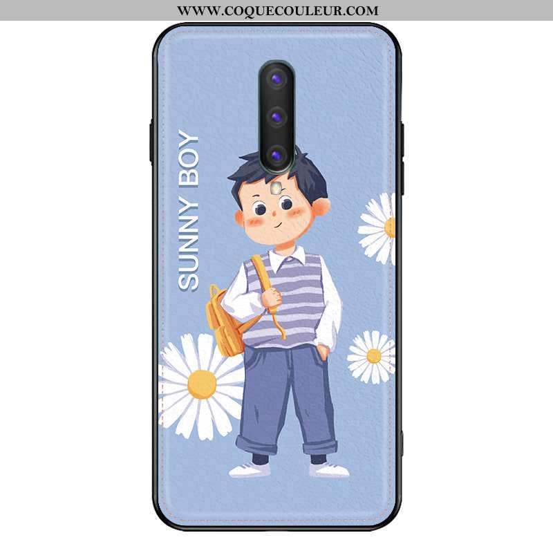 Coque Oneplus 8 Charmant Téléphone Portable Petit, Housse Oneplus 8 Cuir Frais Bleu