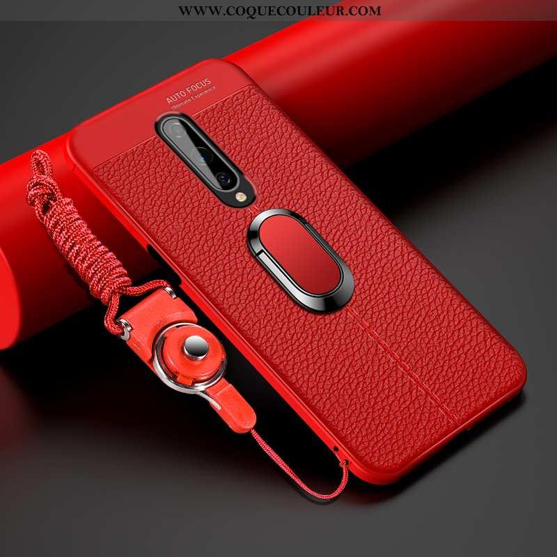 Housse Oneplus 8 Fluide Doux Créatif Net Rouge, Étui Oneplus 8 Silicone Cuir Rouge