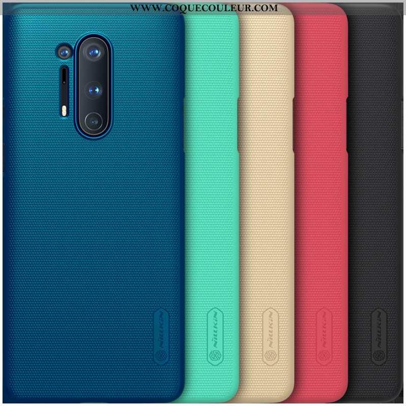 Housse Oneplus 8 Pro Protection Étui Incassable, Oneplus 8 Pro Délavé En Daim Difficile Bleu Foncé