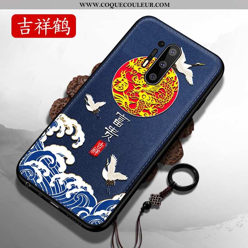 Coque Oneplus 8 Pro Légère Tendance Style Chinois, Housse Oneplus 8 Pro Fluide Doux Délavé En Daim B