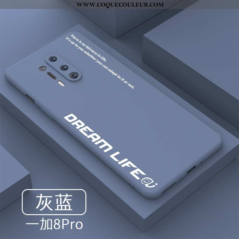 Étui Oneplus 8 Pro Silicone Coque Net Rouge, Oneplus 8 Pro Protection Simple Bleu