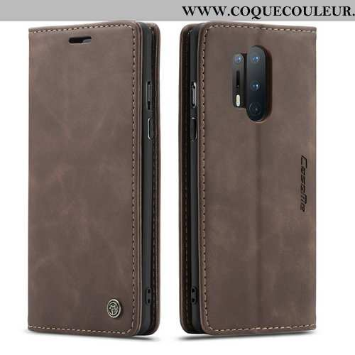 Coque Oneplus 8 Pro Protection Mode Simple, Housse Oneplus 8 Pro Personnalité Cuir Marron