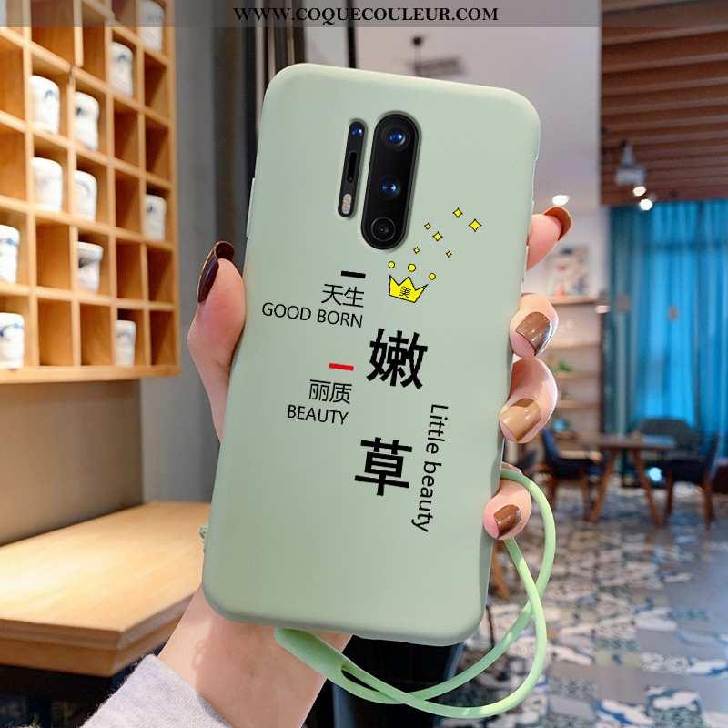 Housse Oneplus 8 Pro Tendance Coque Téléphone Portable, Étui Oneplus 8 Pro Légère Bovins Verte