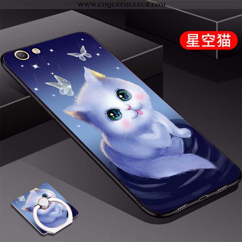 Housse Oppo A3 Silicone Bleu Coque, Étui Oppo A3 Mode Incassable