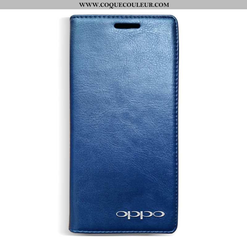 Housse Oppo A3 Cuir Téléphone Portable Tout Compris, Étui Oppo A3 Protection Bleu