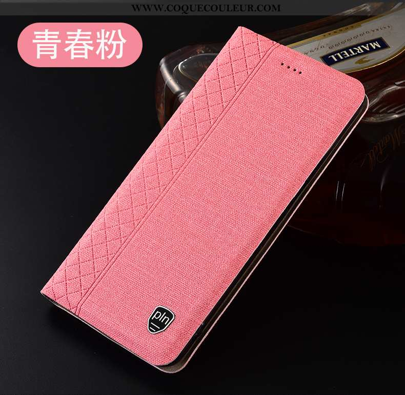 Étui Oppo A3 Cuir Téléphone Portable Plaid, Coque Oppo A3 Protection Rose