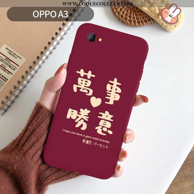 Housse Oppo A3 Ultra Rat Silicone, Étui Oppo A3 Légère Nouveau Rouge