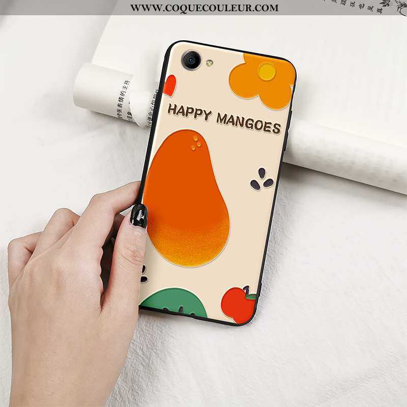 Housse Oppo A3 Silicone Cœur Incassable, Étui Oppo A3 Protection Fruit Orange