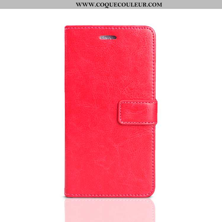 Coque Oppo A3 Cuir Protection Coque, Housse Oppo A3 Fluide Doux Silicone Rouge
