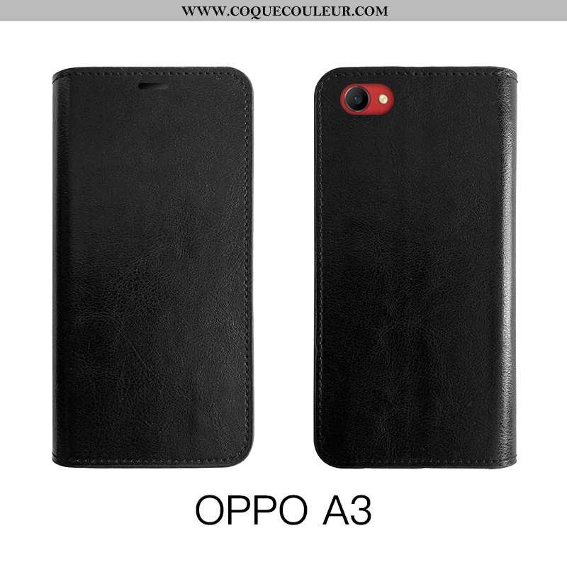 Étui Oppo A3 Fluide Doux Business Protection, Coque Oppo A3 Silicone Difficile Noir