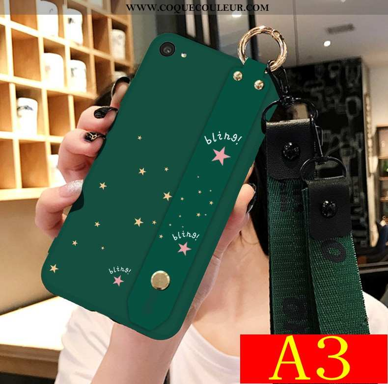 Housse Oppo A3 Fluide Doux Coque Délavé En Daim, Étui Oppo A3 Silicone Téléphone Portable Verte