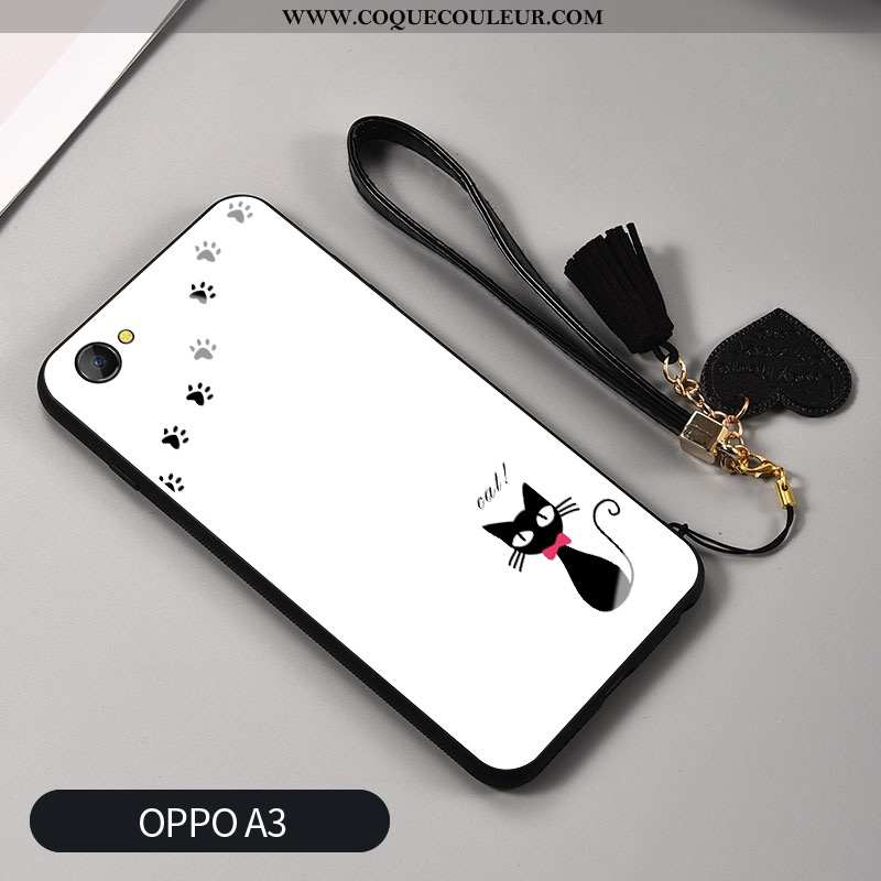 Coque Oppo A3 Mode Silicone Téléphone Portable, Housse Oppo A3 Protection Verre Blanche