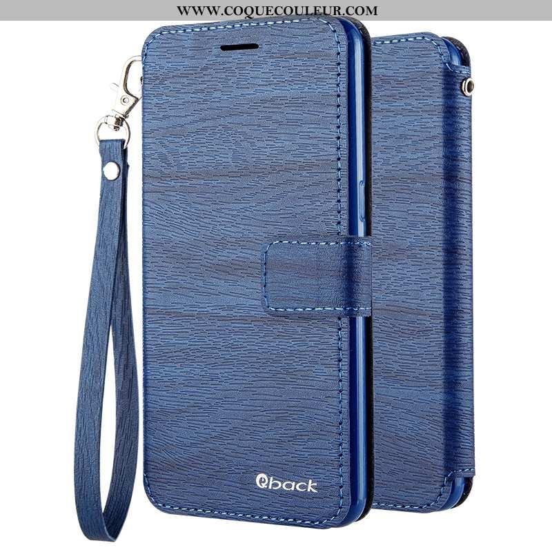 Housse Oppo A31 Cuir Tout Compris Coque, Étui Oppo A31 Silicone Téléphone Portable Bleu