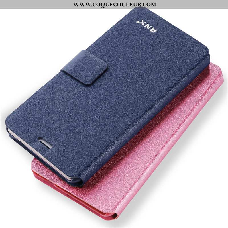 Étui Oppo A31 Tendance Téléphone Portable Fluide Doux, Coque Oppo A31 Cuir Bleu
