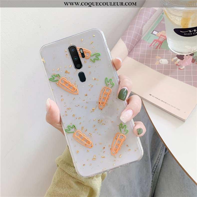 Étui Oppo A5 2020 Créatif Protection, Coque Oppo A5 2020 Tendance Téléphone Portable Blanche