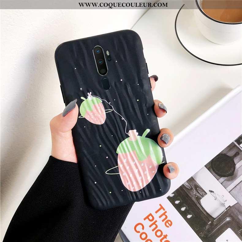 Étui Oppo A5 2020 Silicone Coque Étui, Oppo A5 2020 Mode Téléphone Portable Noir