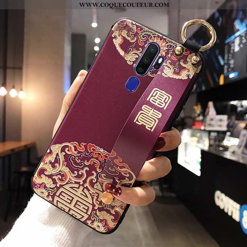 Housse Oppo A5 2020 Fluide Doux Téléphone Portable Coque, Étui Oppo A5 2020 Silicone Violet