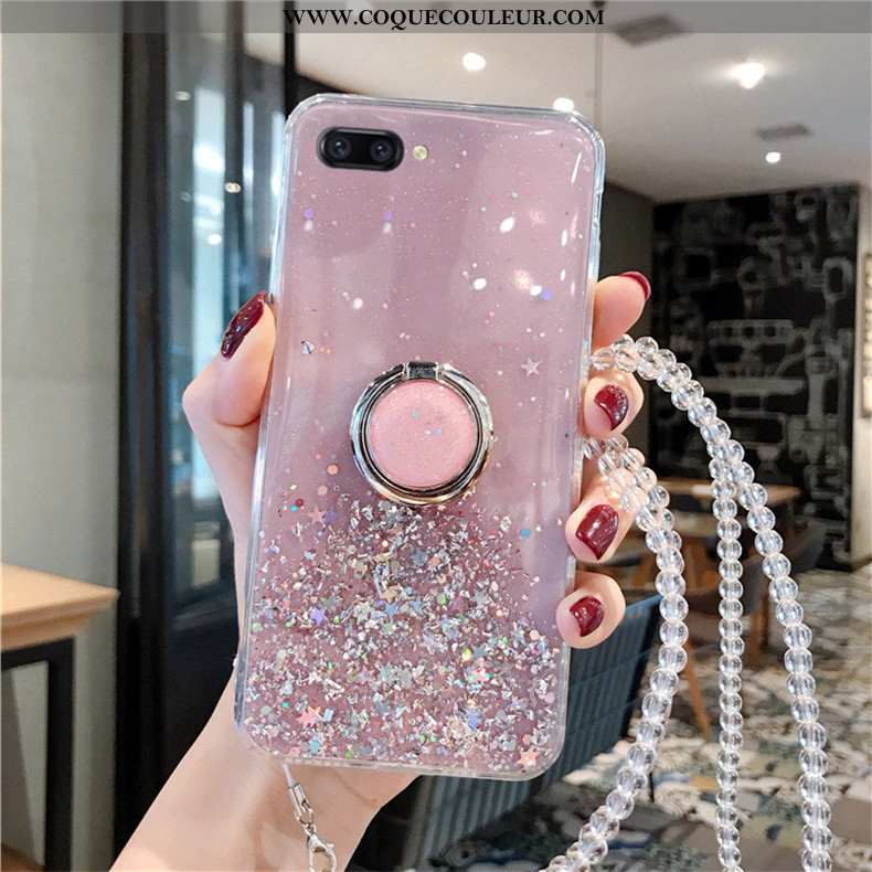 Coque Oppo A5 Mode Cristal Rose, Housse Oppo A5 Protection Téléphone Portable Rose