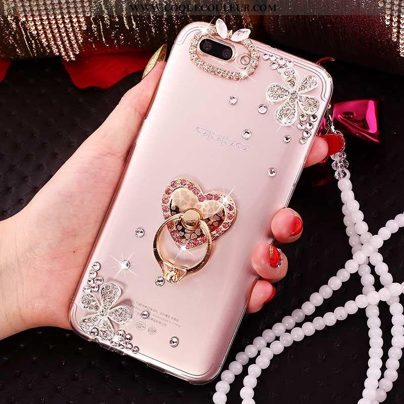 Étui Oppo A5 Silicone Téléphone Portable Incassable, Coque Oppo A5 Protection Créatif Rose