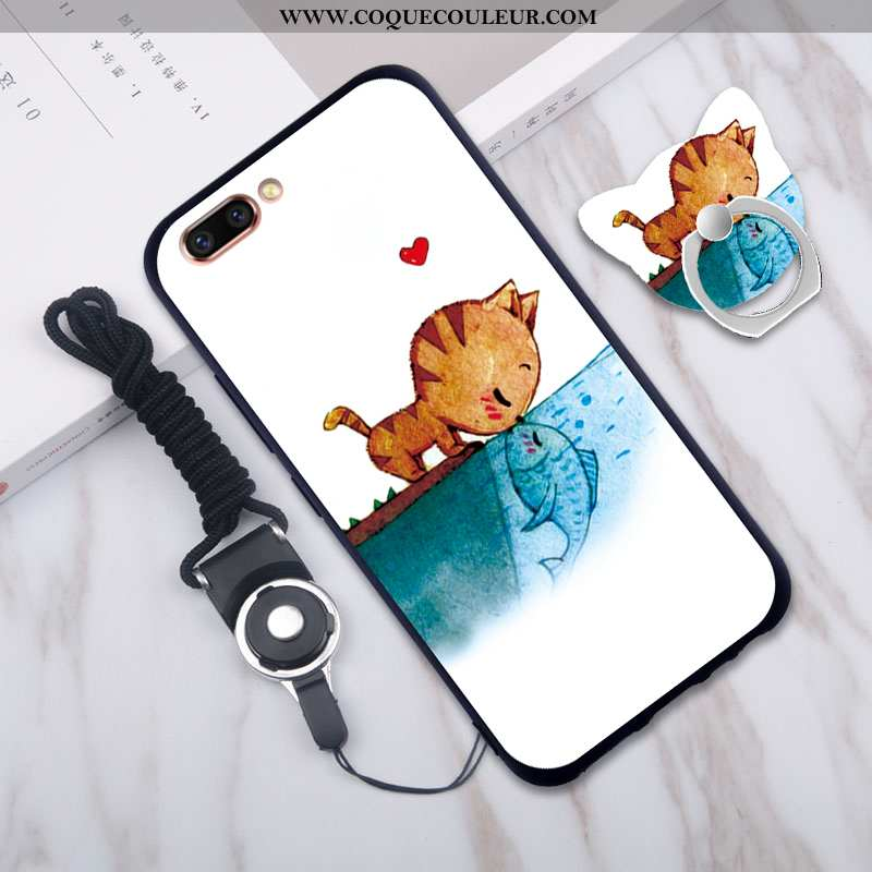 Étui Oppo A5 Cou Suspendu Coque Silicone, Oppo A5 Fluide Doux Téléphone Portable Bleu